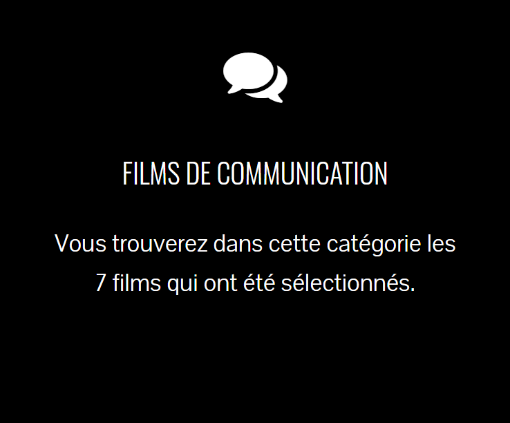 Accès à la catégorie films de communication